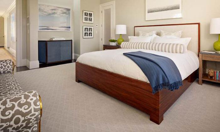 Какой и как выбрать ковролин в спальню + фото в интерьере