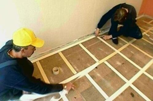 Монтаж коврового покрытия на двусторонний скотч