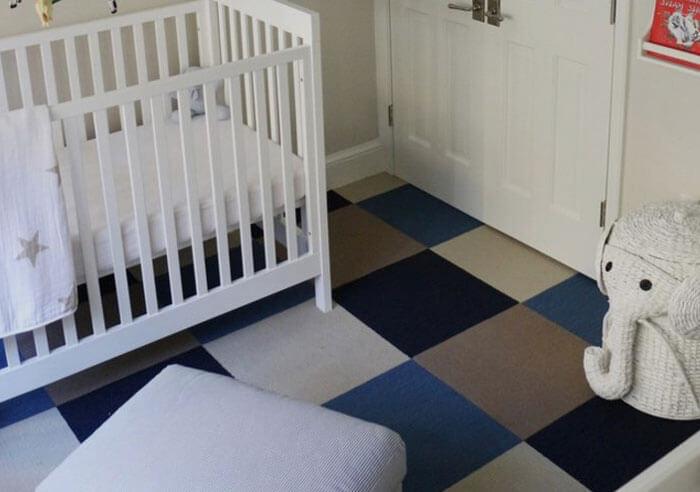 Ковровая плитка в детской комнате