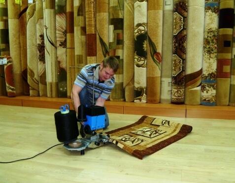 Обработка ковролина оверлоком